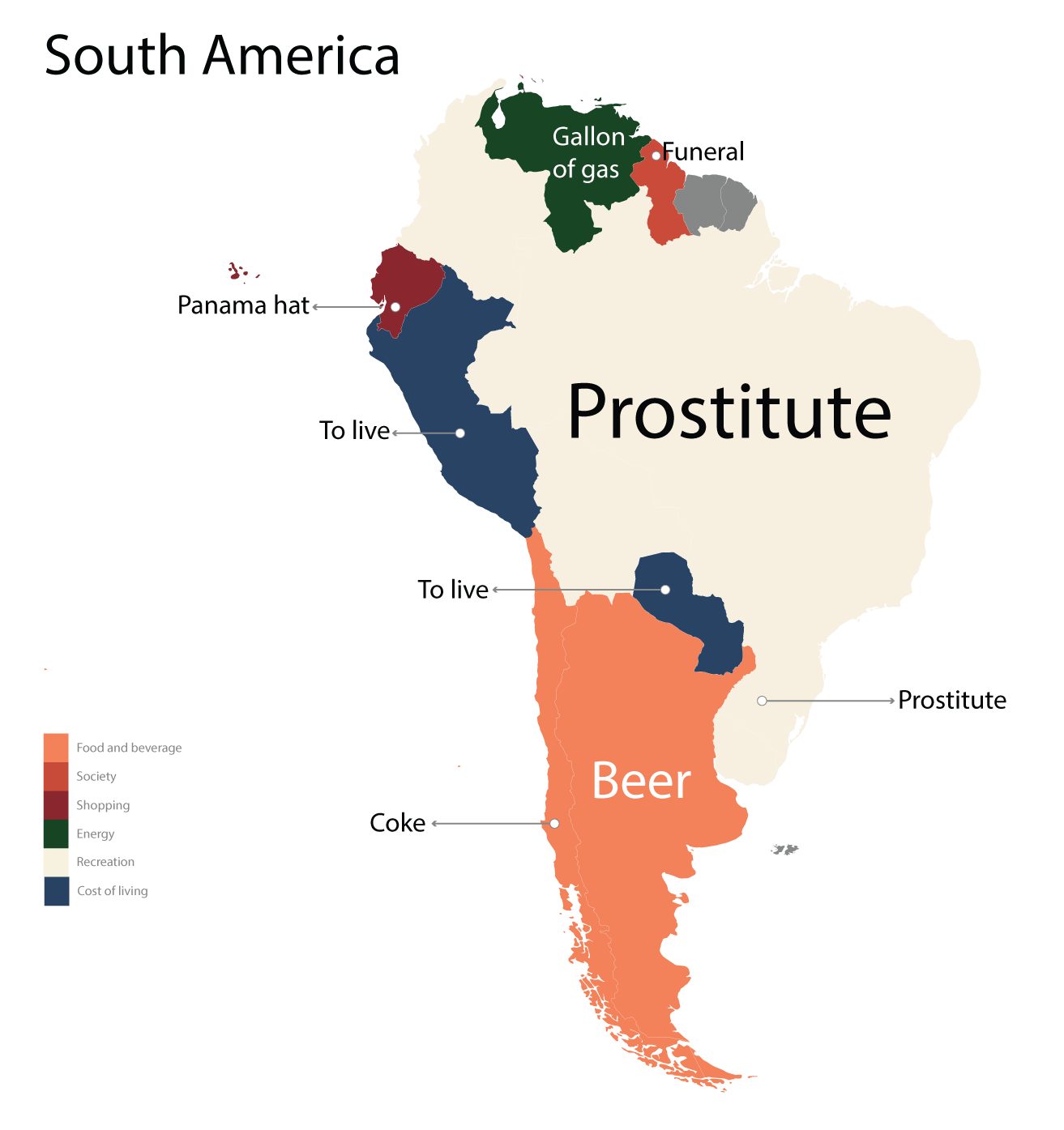South America: Cost Obsessions Around The World